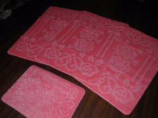 ROMANY WASHABLES NEW FOR 2020 SUPER THICK NEW DESIGN 4PC SET BABY PINK NON SLIP